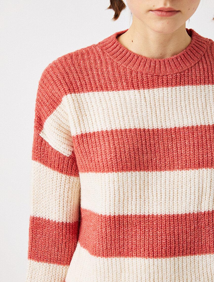 Crew Neck Striped Sweater