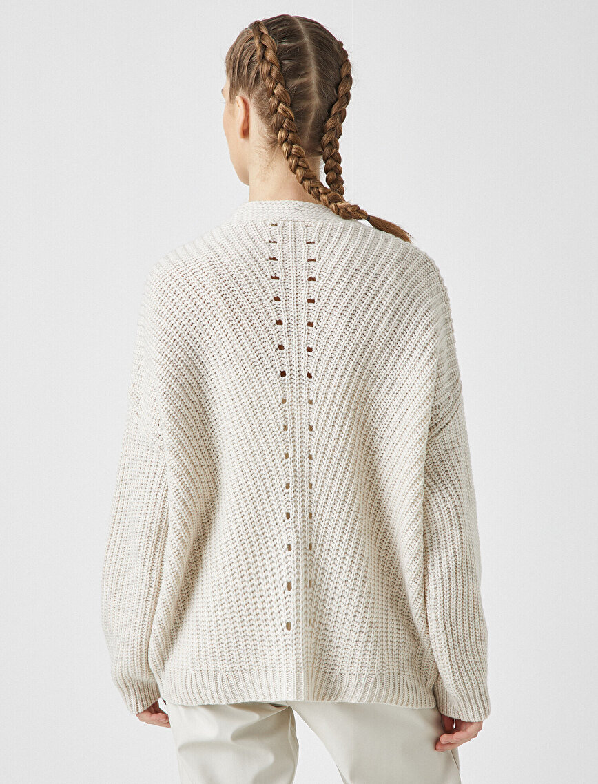 Oversize Button Detailed Cardigan