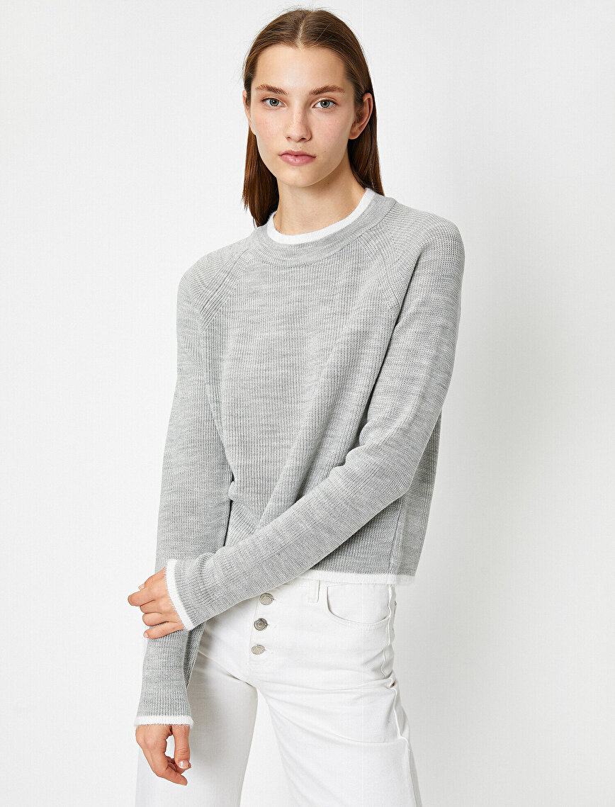 Long Sleeve Stand Neck Slim Sweater