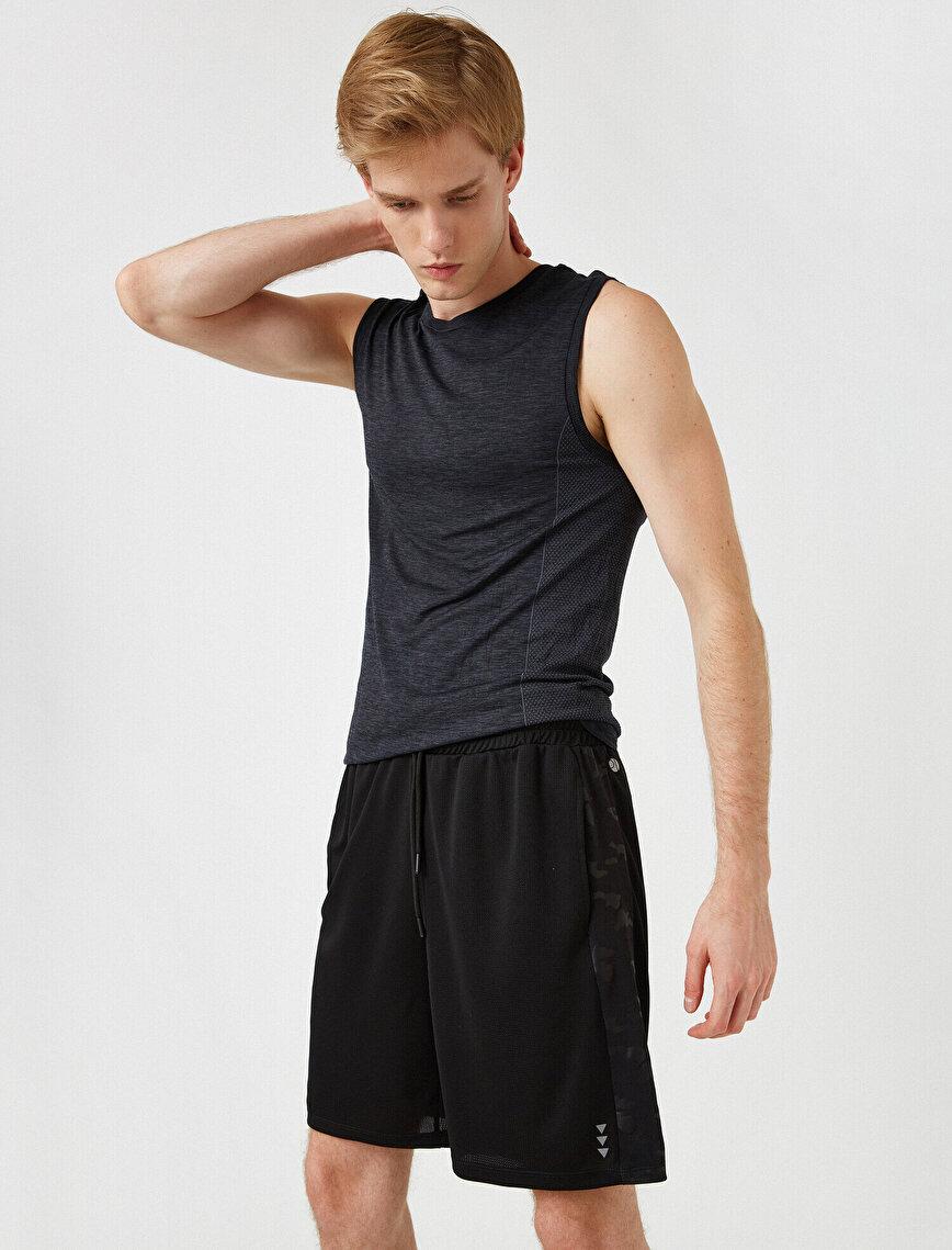 Medium Rise Drawstring Shorts
