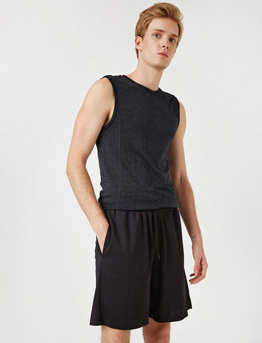 Drawstring Printed Shorts