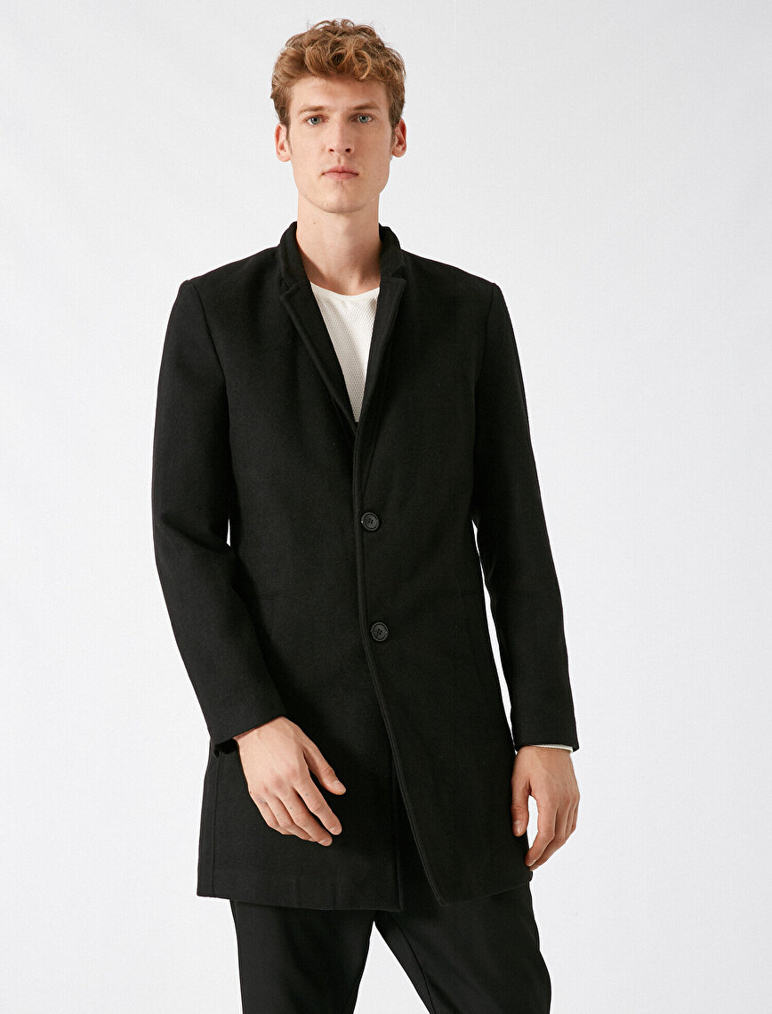 Button Pocket Detailed Coat
