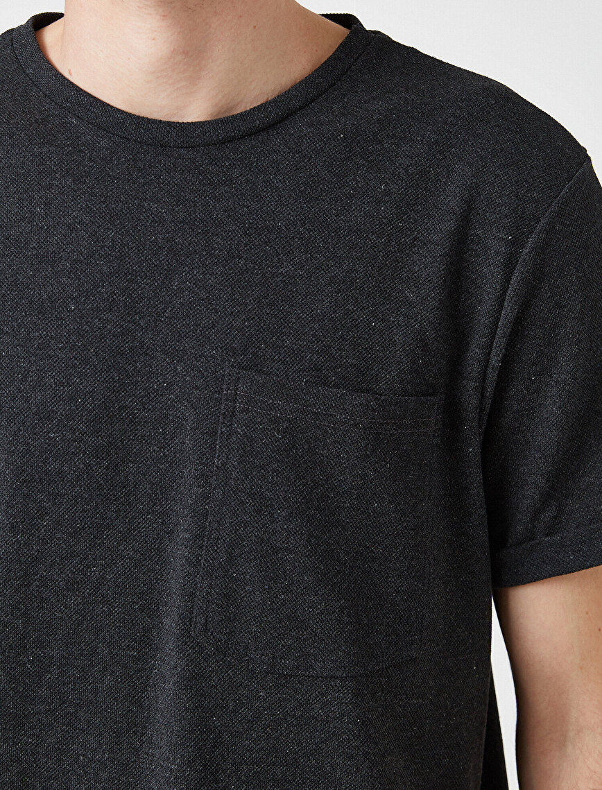 Respect Life | Yaşama Saygı - Cepli Kısa Kollu Basic Tişört