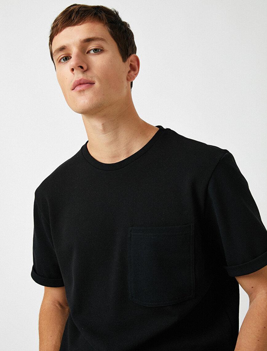 Respect Life   Yaşama Saygı - Cepli Kısa Kollu Basic Tişört