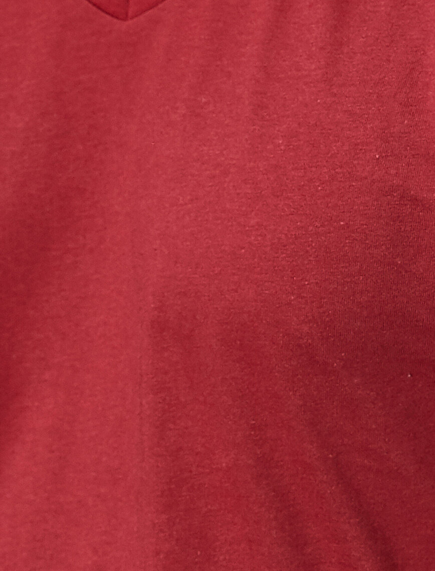 Kısa Kollu V Yaka Basic Tişört