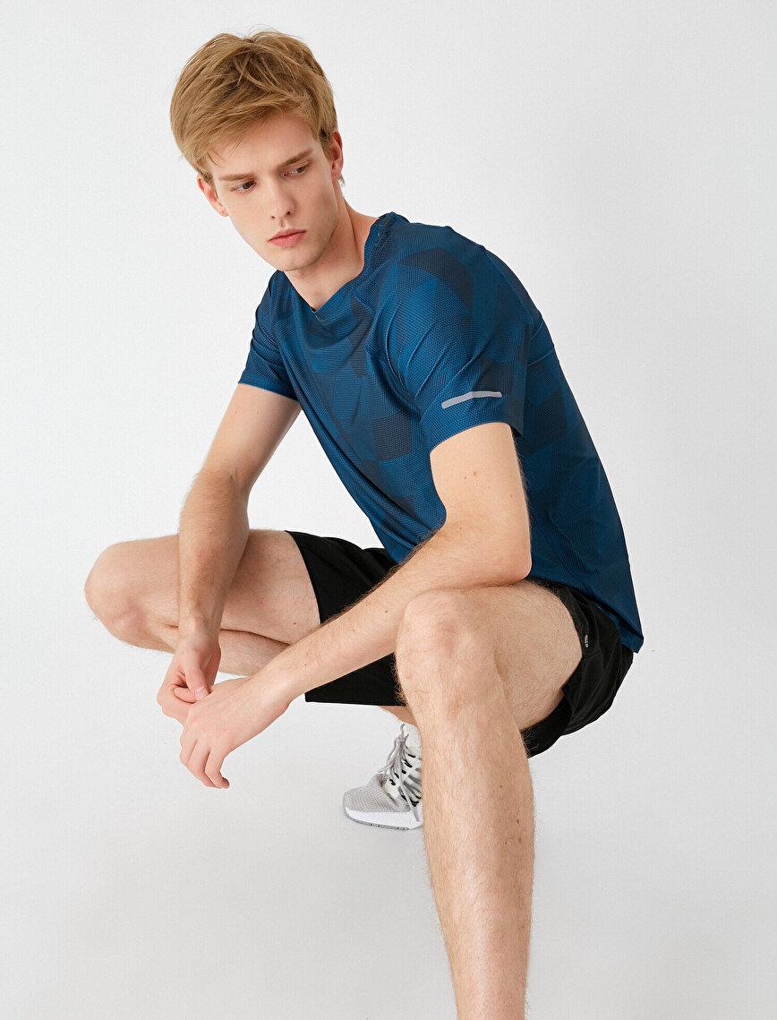 Crew Neck Short Sleeve Patterned T-Shirt