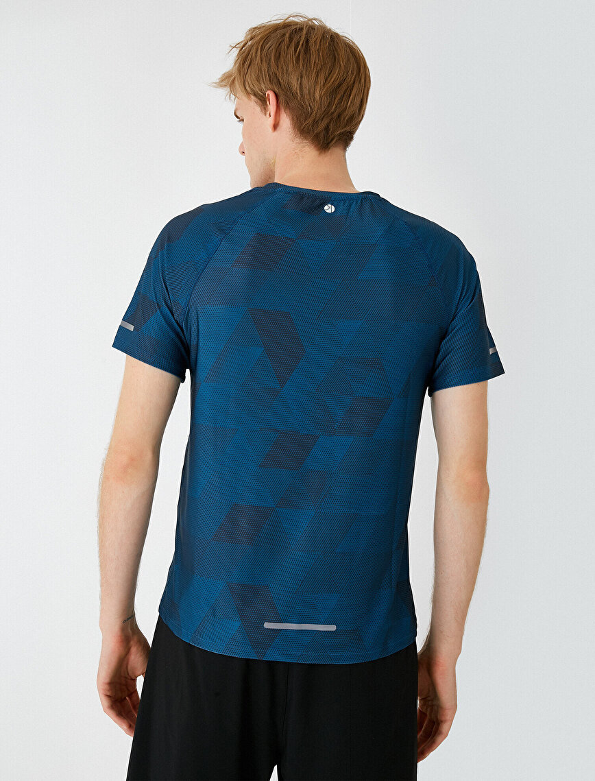Crew Neck Short Sleeve Patterned T-Shirt