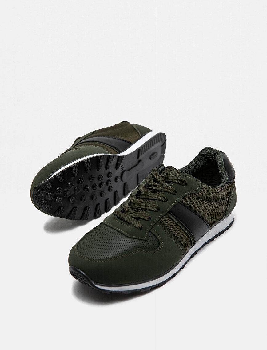 Leather Detailed Sneakers