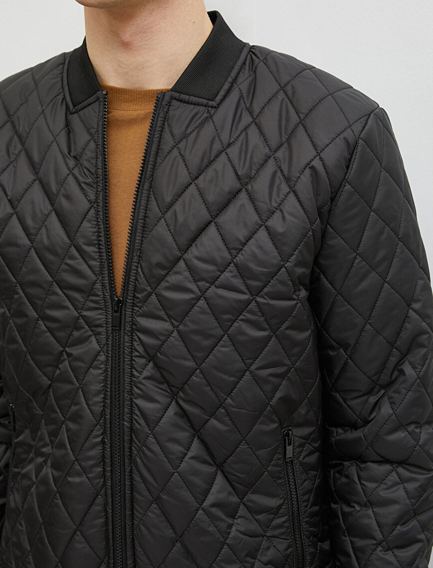 Bomber Jacket Quilted Zipper