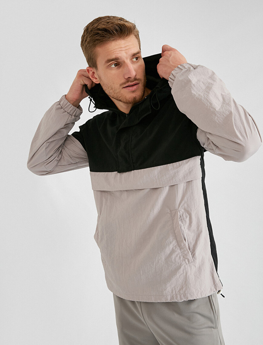Hooded Rexaled Fit Pocket Detailed Sport Coat