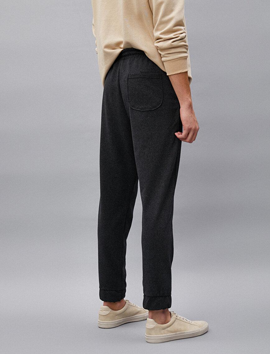 Cotton Basic Drawstring Jogging Pants