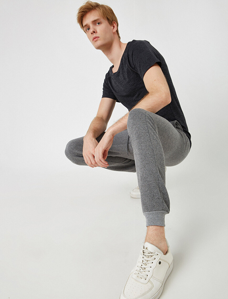 Medium Rise Basic Jogging Pants