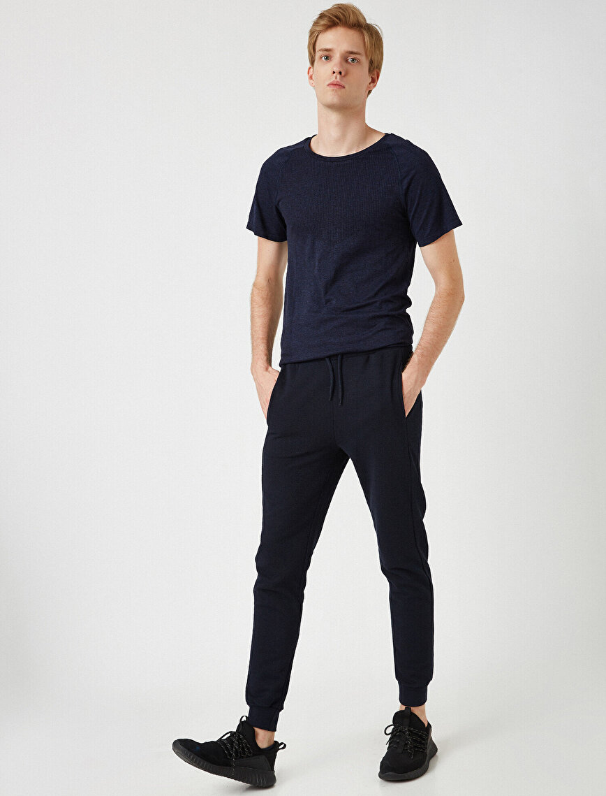 Medium Rise Basic Jogging Pants