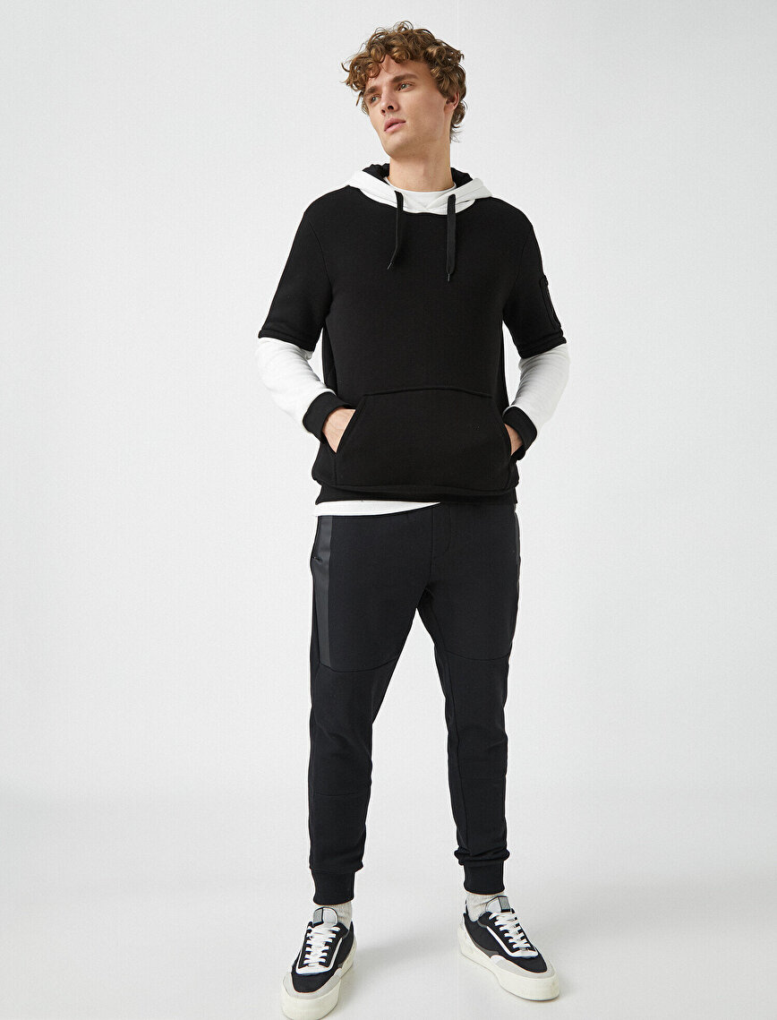 Pocket Detailed Medium Rise Jogging Pants