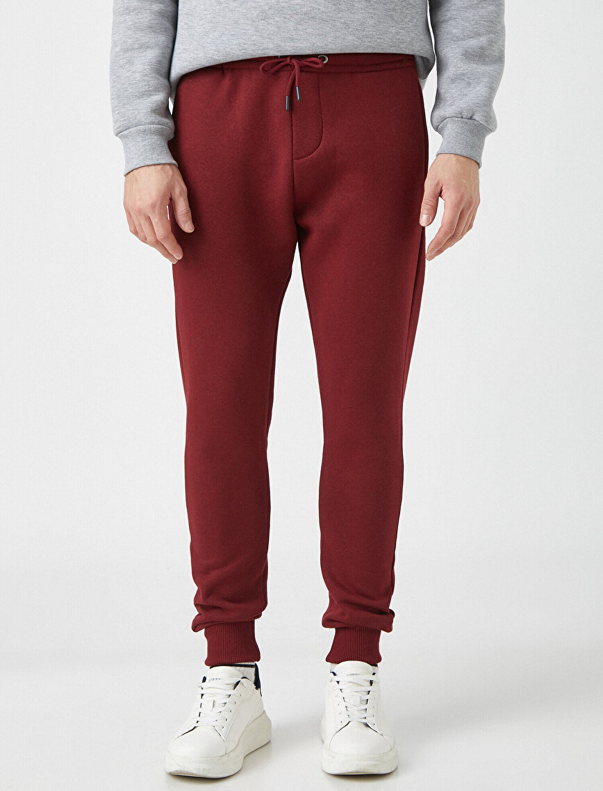 Drawstring Basic Jogging Pants