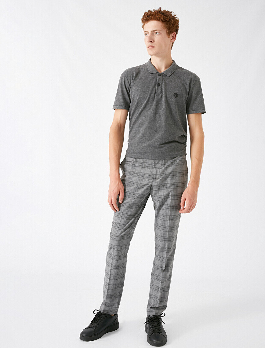Checked Chino Trousers
