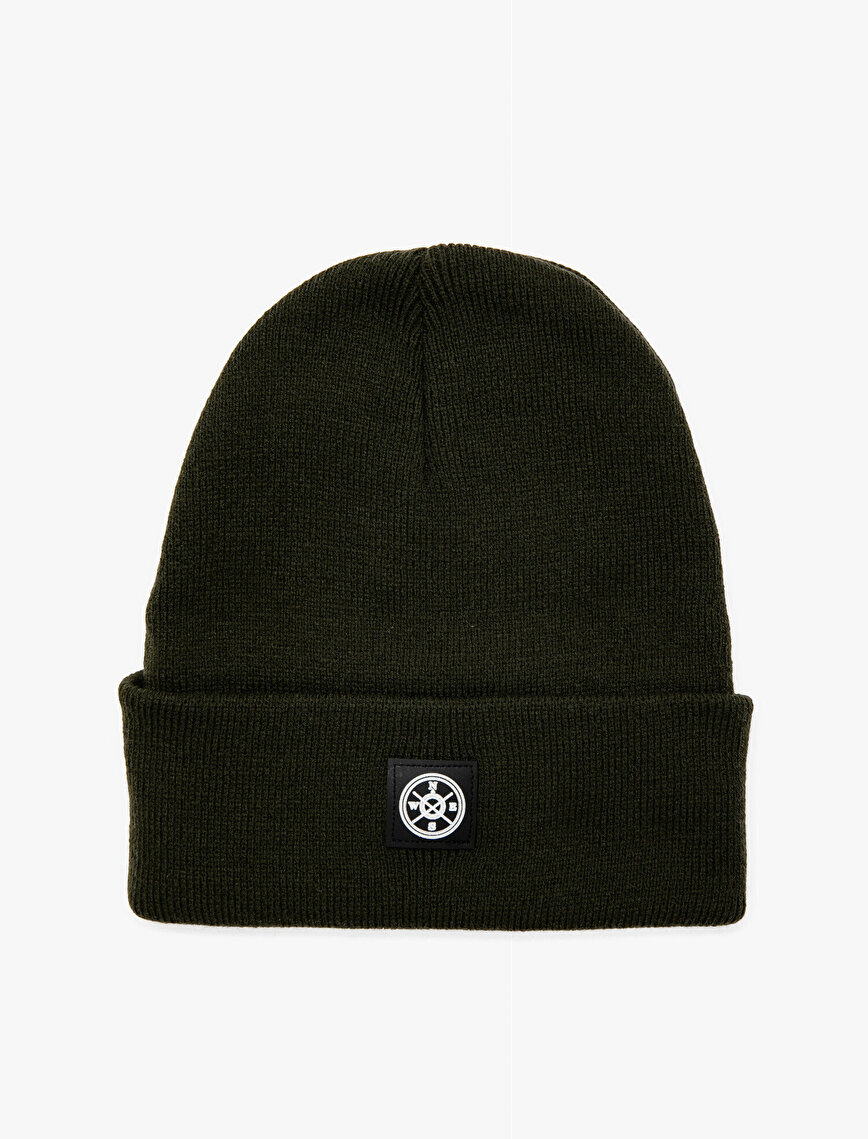 Leather Detailed Beanie