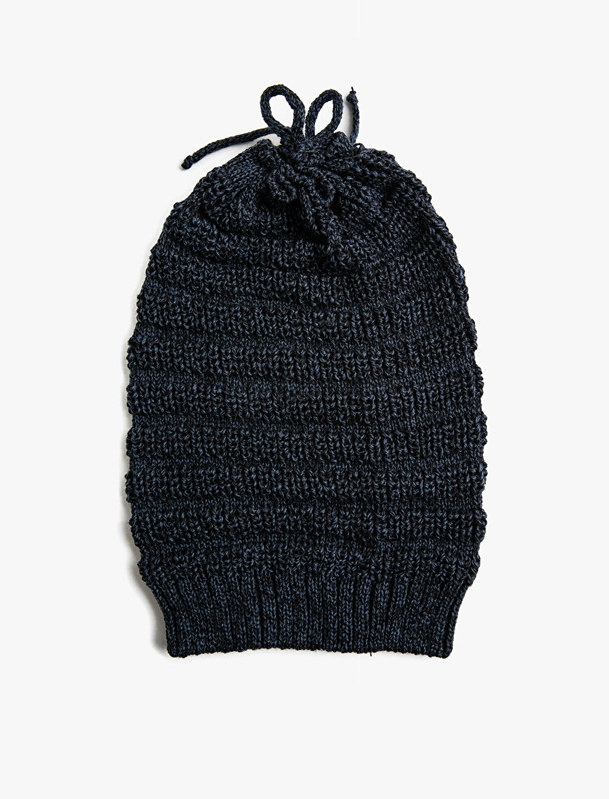 Knitted Shirred Beanie