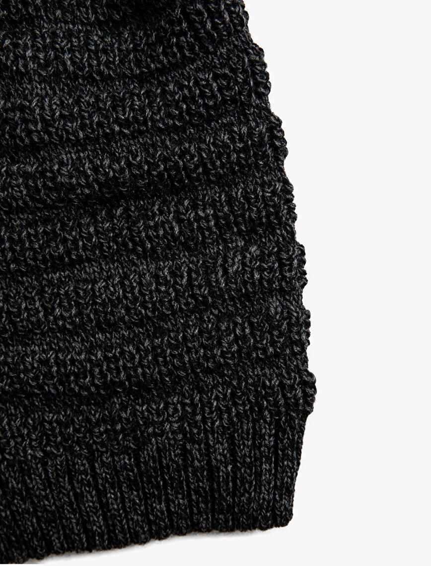 Knitted Shirred Beanie