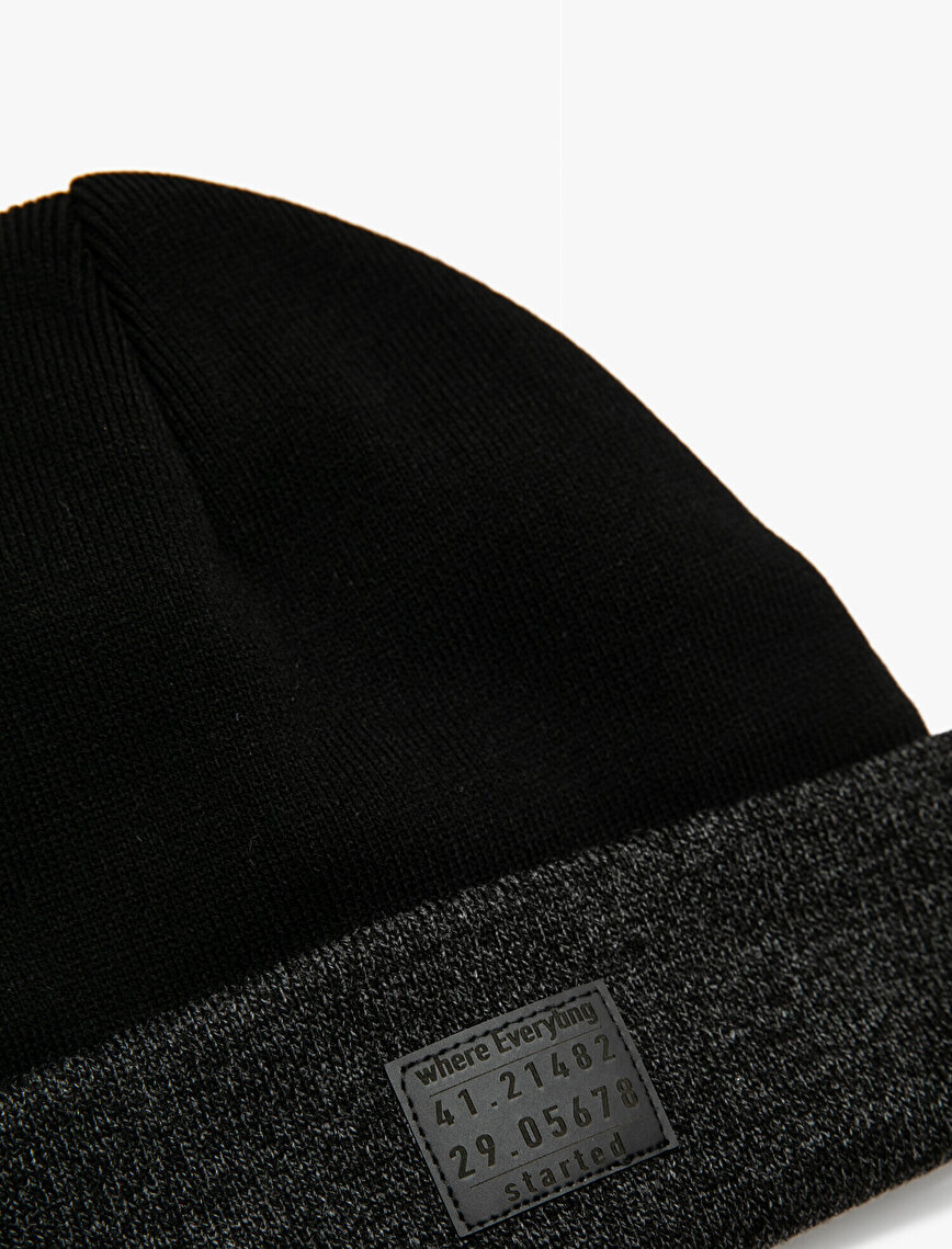 Label Woven Beanie