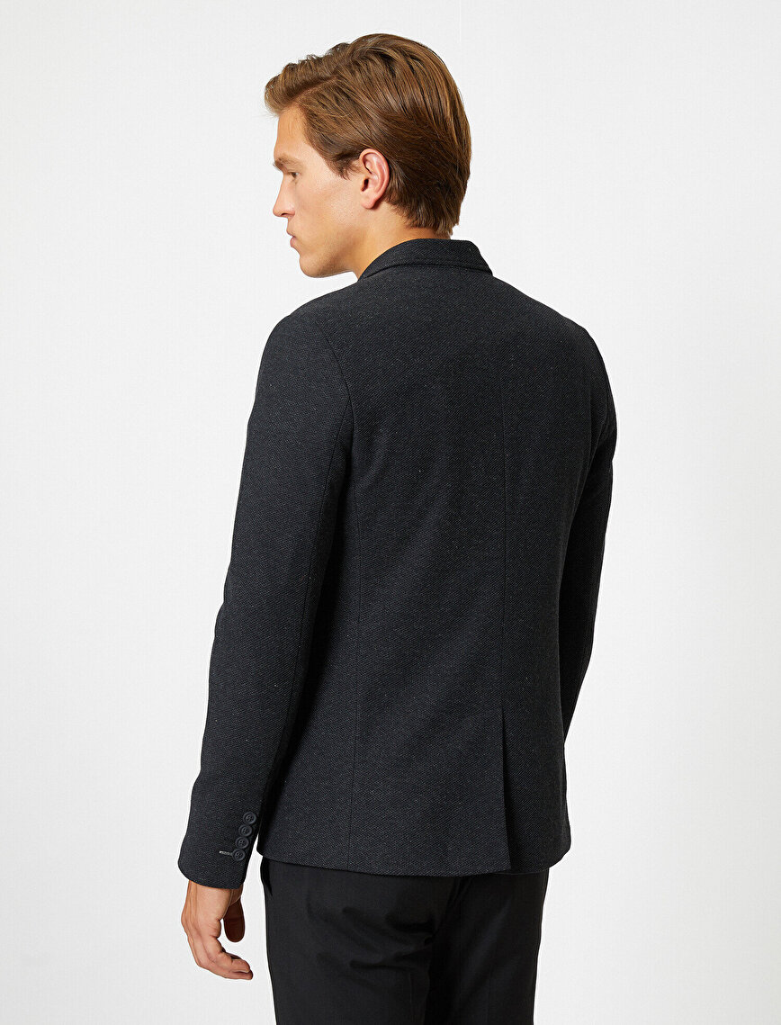 Button Detailed Blazer With Pocket