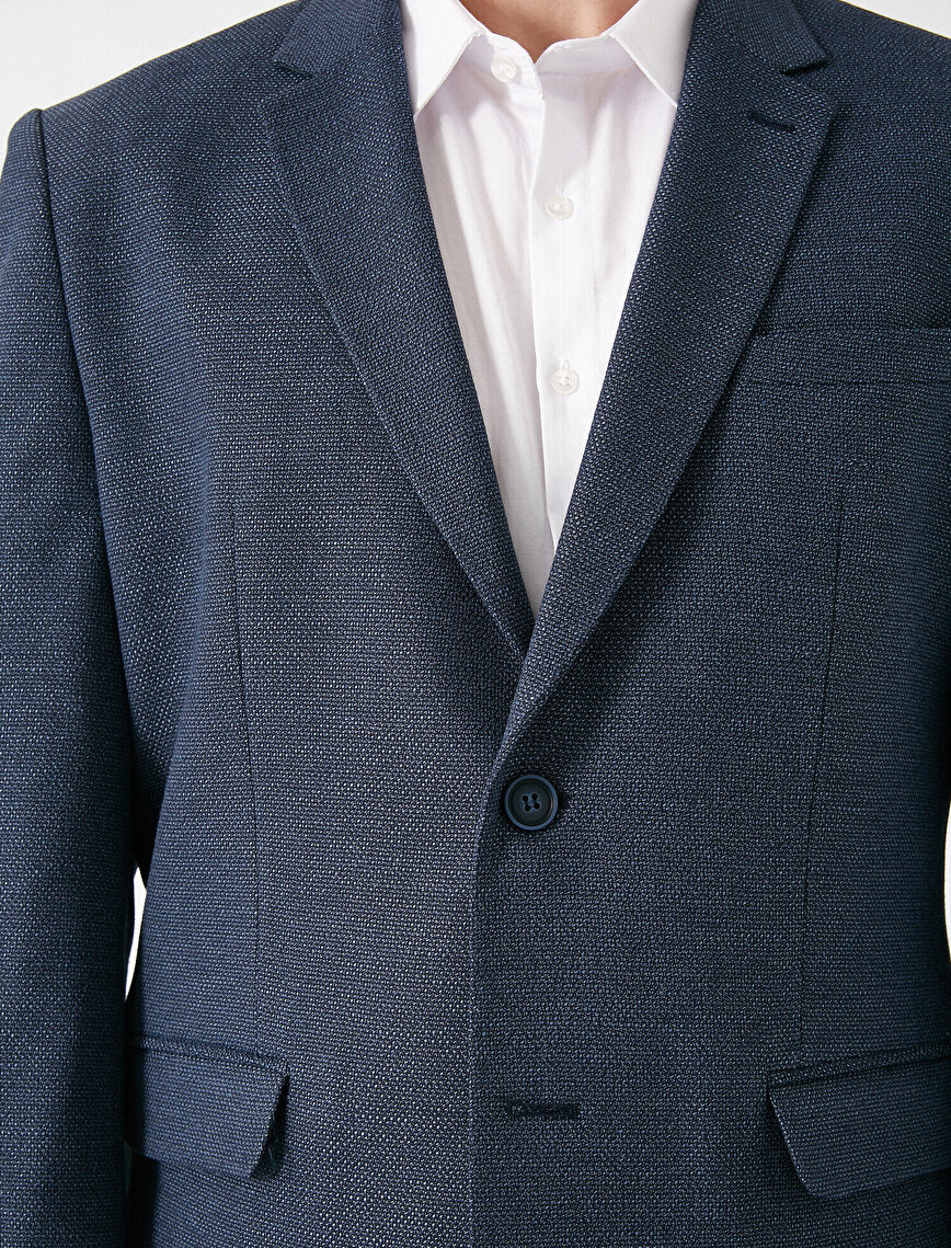 Pocket Detailed Button Blazer