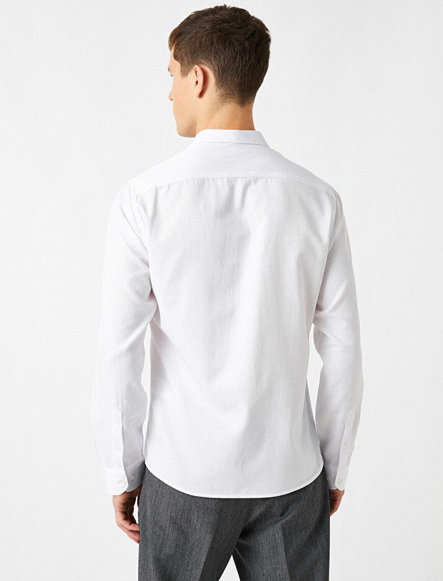 Pamuklu Klasik Yaka Uzun Kollu Gömlek