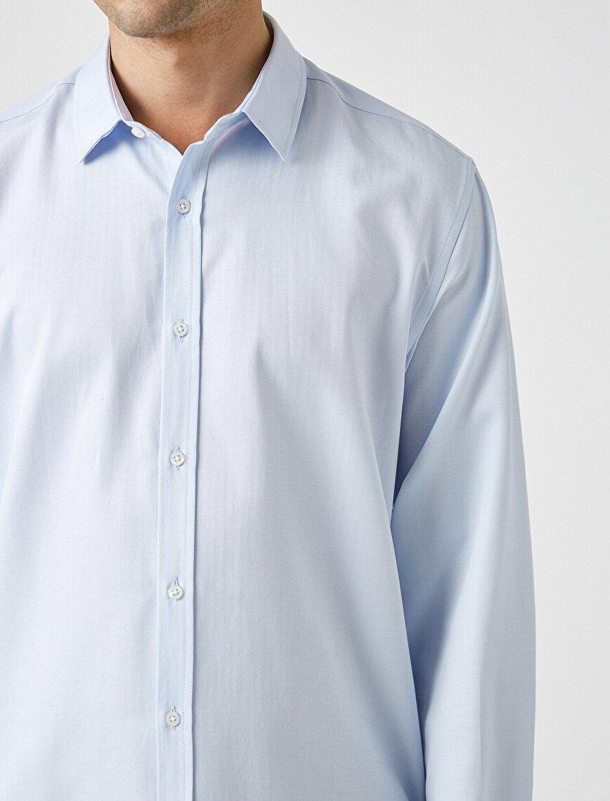Uzun Kollu Basic Gömlek