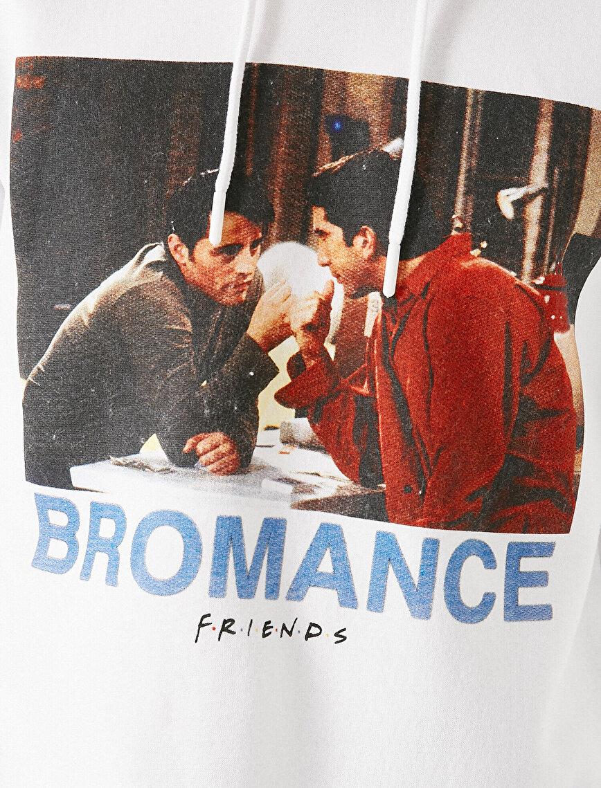 Fridens Lisanslı Baskılı Kapüşonlu Sweatshirt