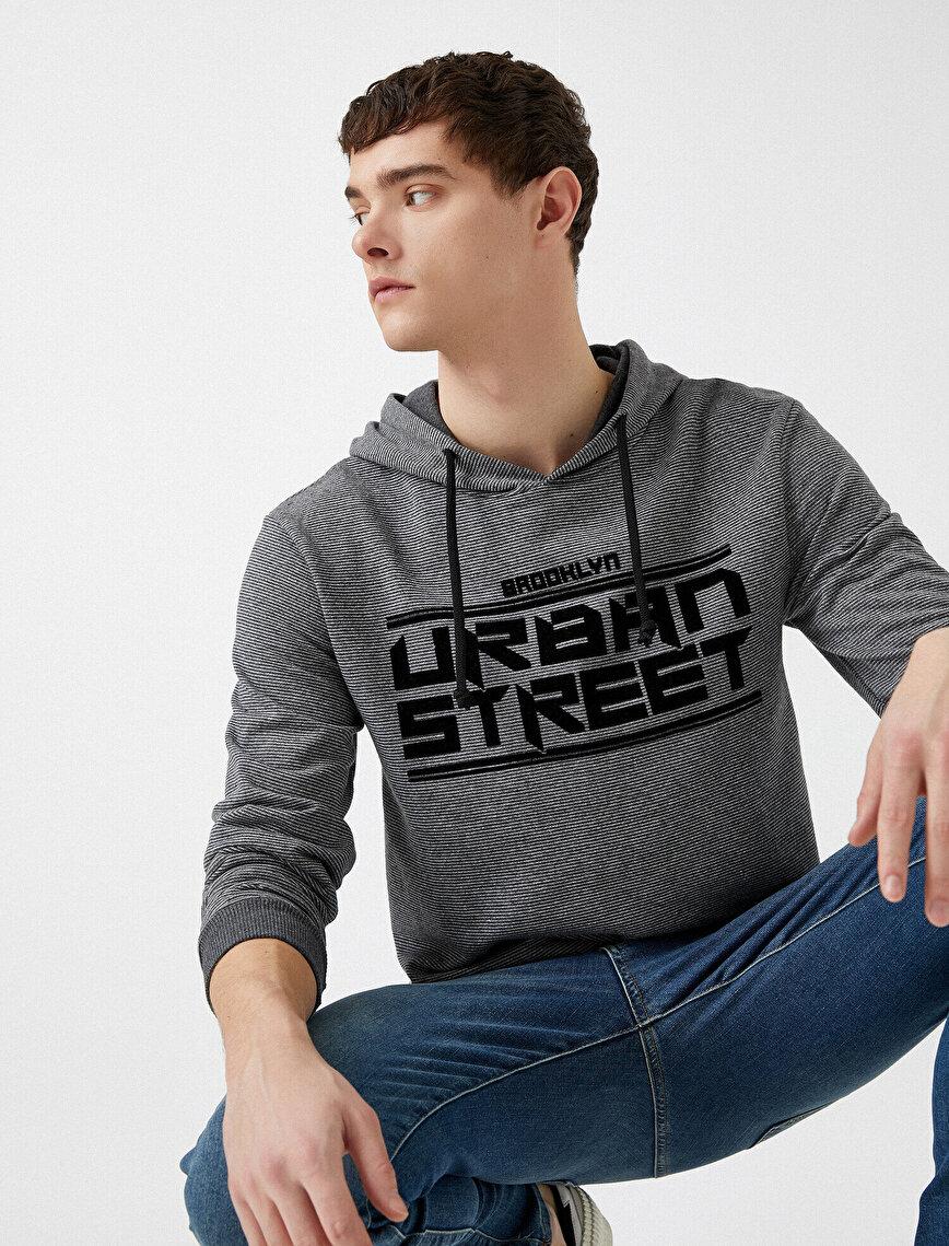 Respect Life | Yaşama Saygı - Kapüşonlu Yazılı Baskılı Sweatshirt