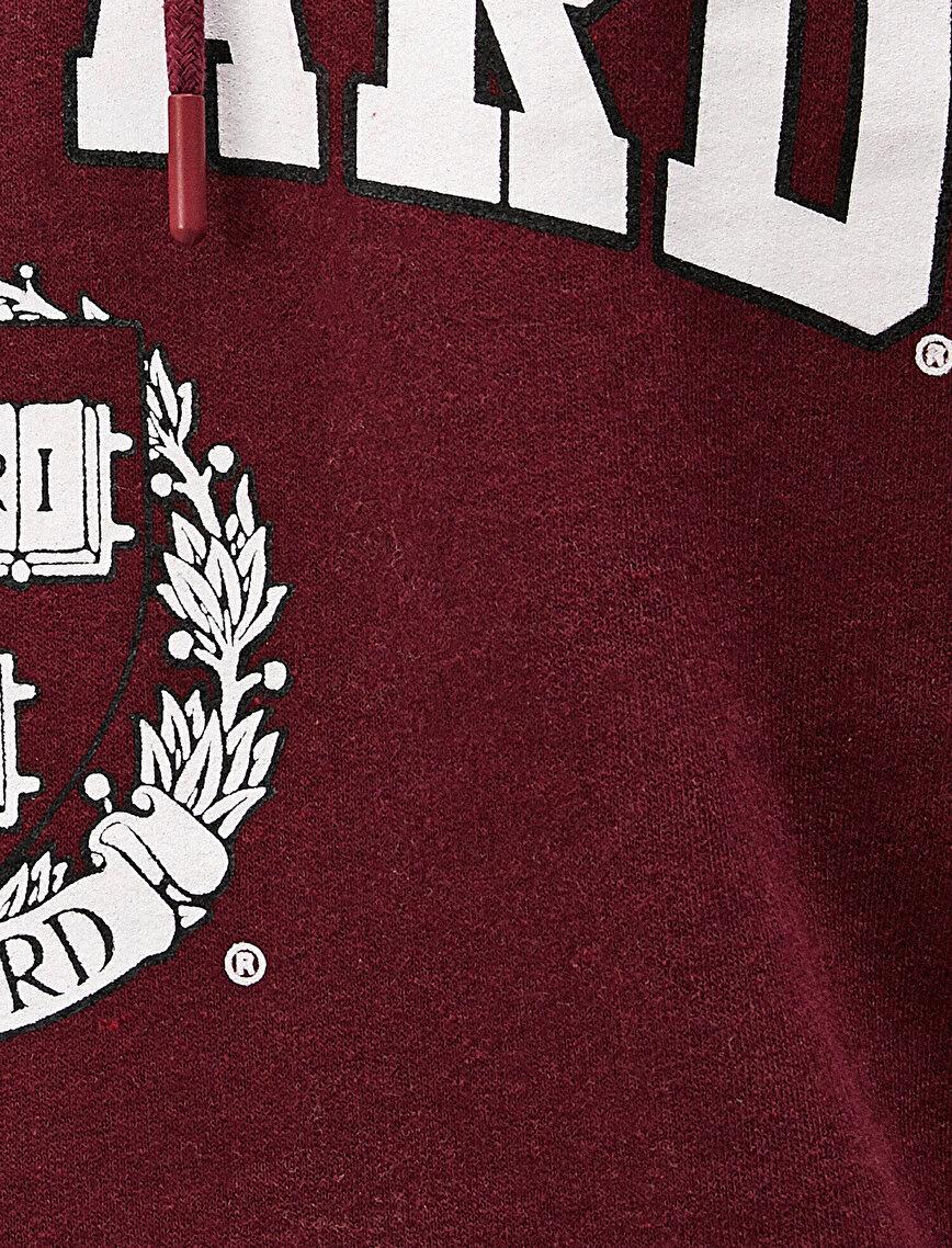 Hooded Letter Printed Long Sleeve Sweatshirt