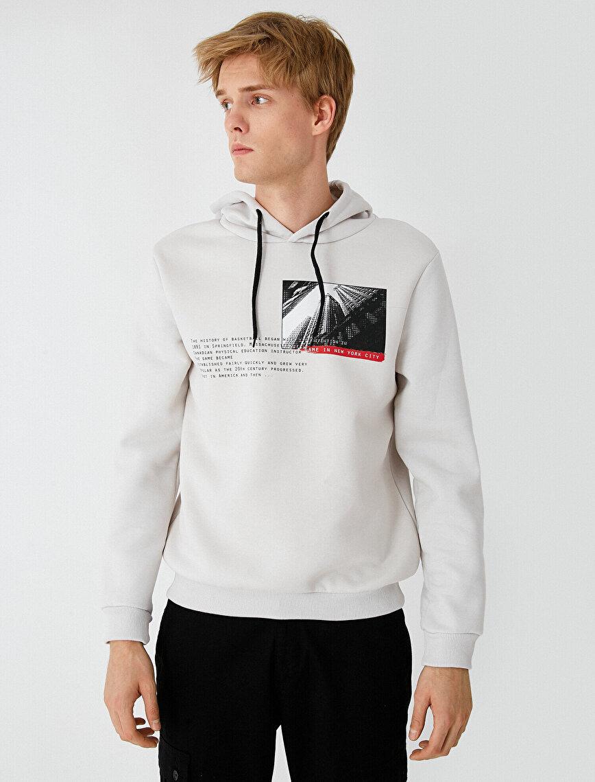 Respect Life   Yaşama Saygı - Kapüşonlu Baskılı Sweatshirt