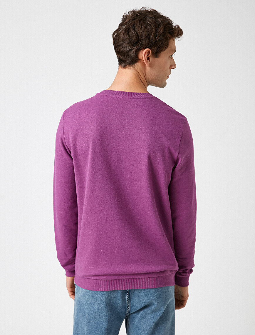 Crew Neck Embellished Sweatshirt
