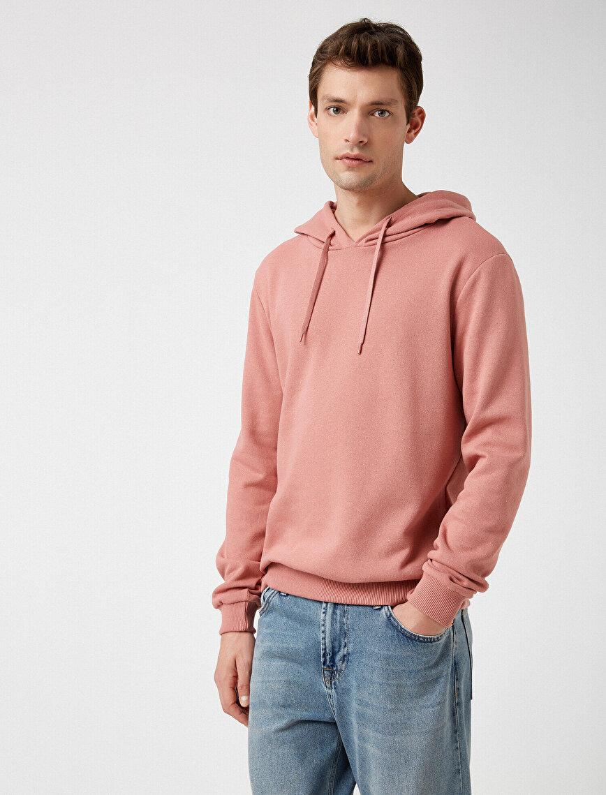 Respect Life   Yaşama Saygı - Basic Kapüşonlu Uzun Kollu Sweatshirt