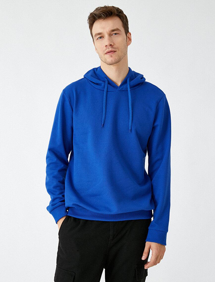 Respect Life | Yaşama Saygı - Kapüşonlu Uzun Kollu Basic Sweatshirt