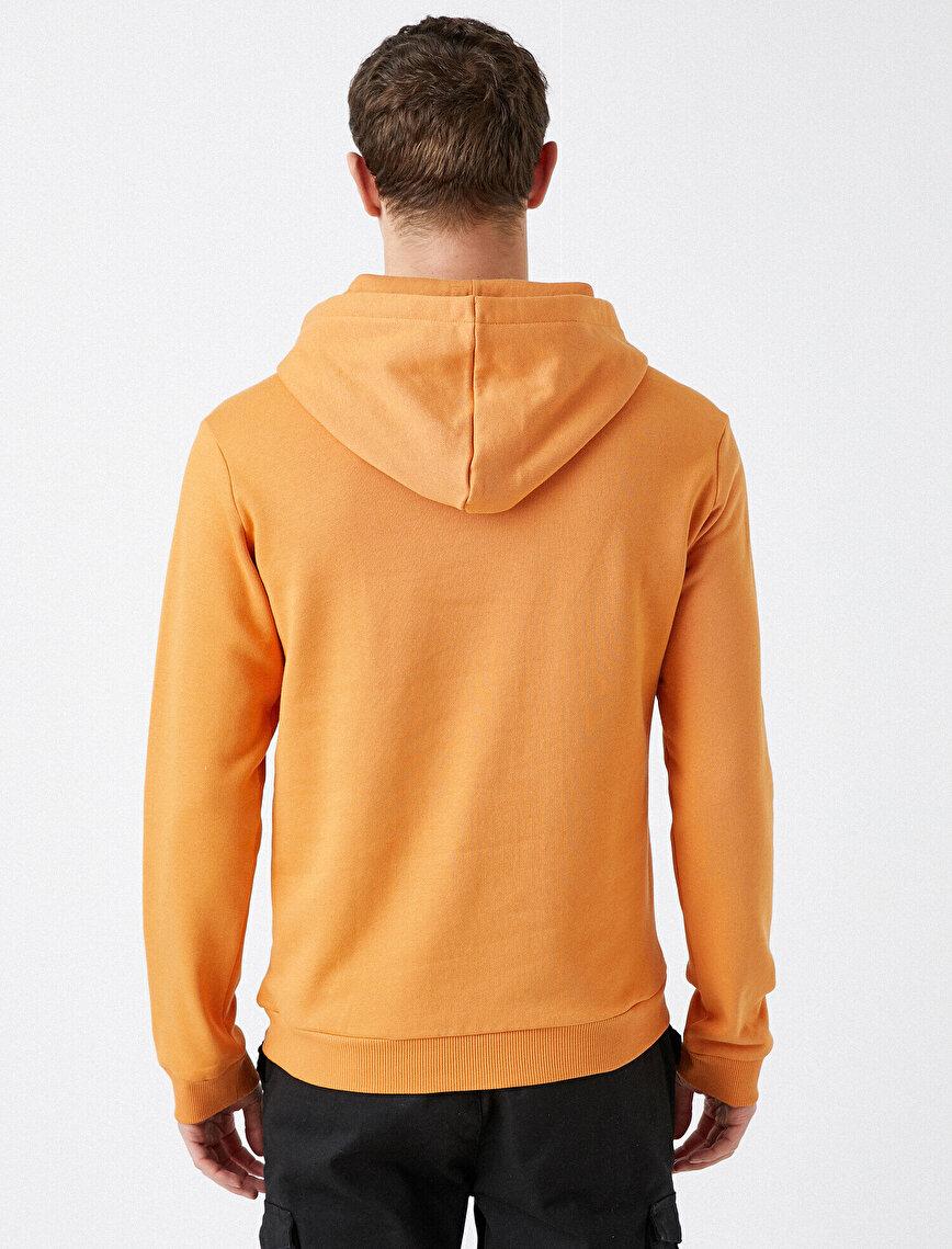 Respect Life | Yaşama Saygı - %100 Organik Pamuk Baskılı Kapüşonlu Sweatshirt