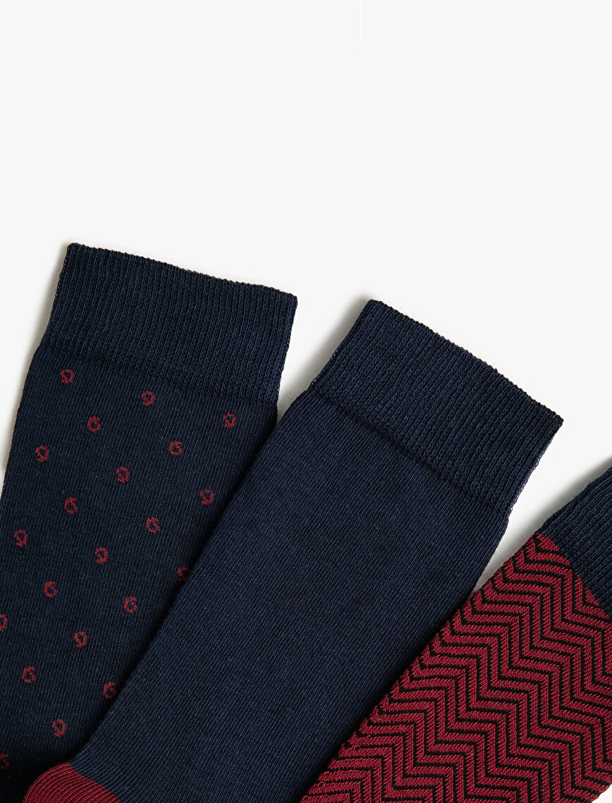 Man 3 Pieces Basic Cotton Socks Set