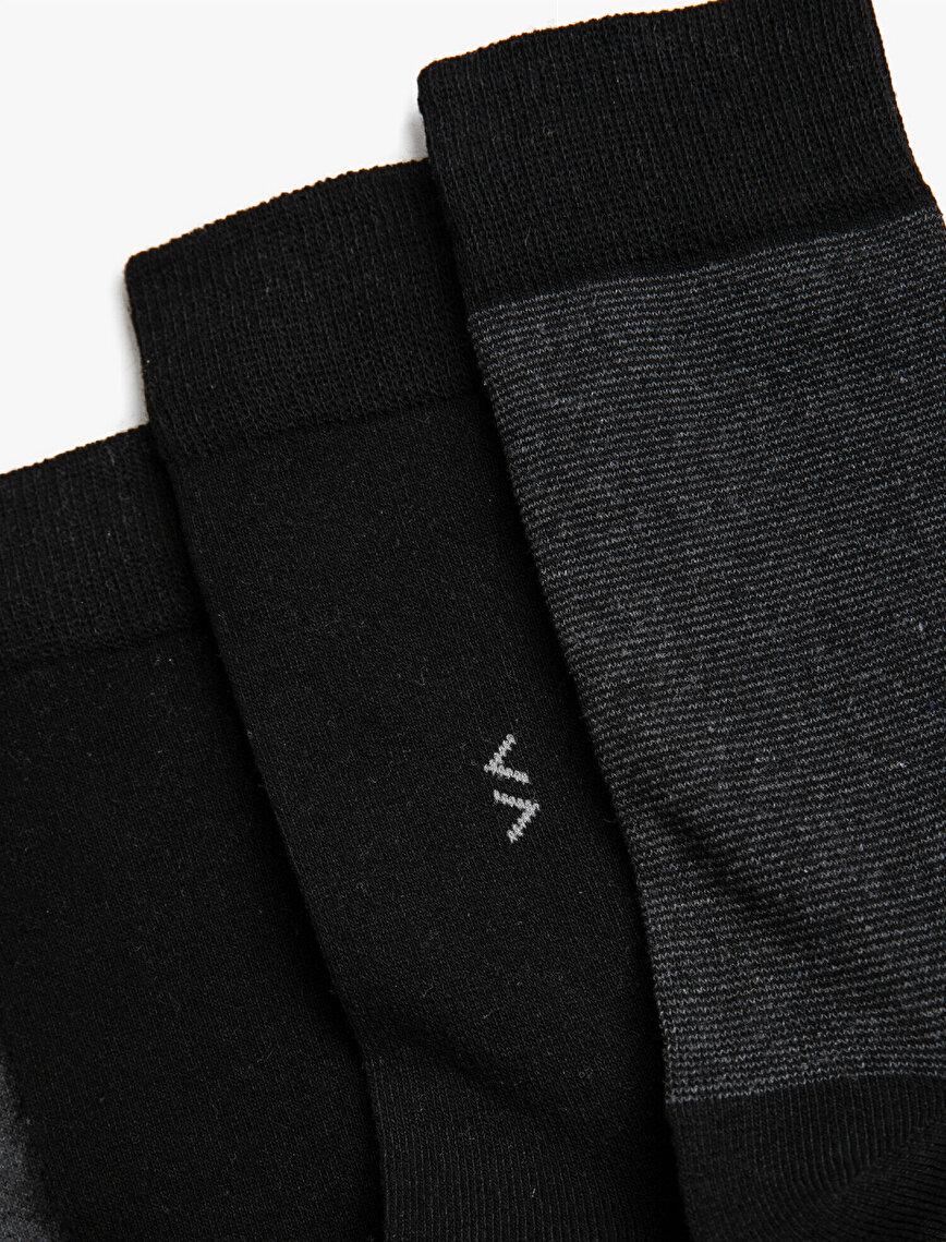Man 4 Pieces Basic Socks Set