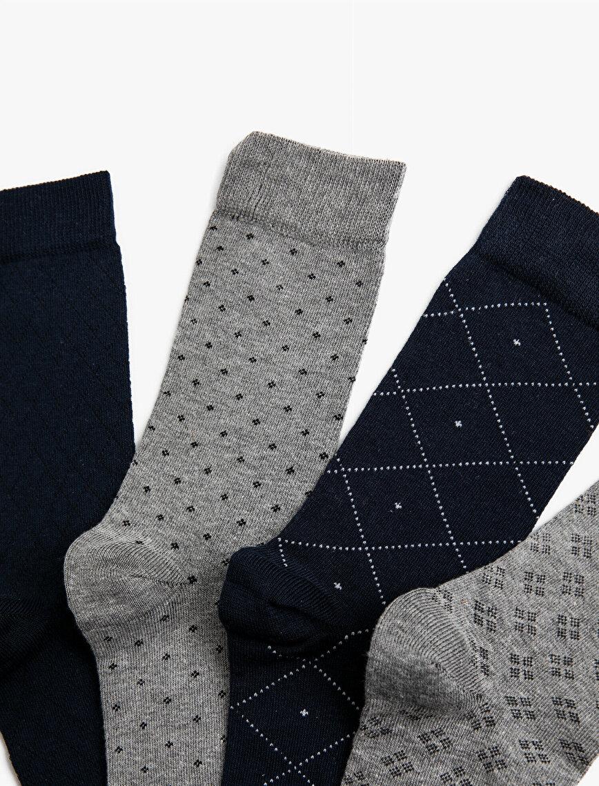 Man 4 Pieces Socks Set