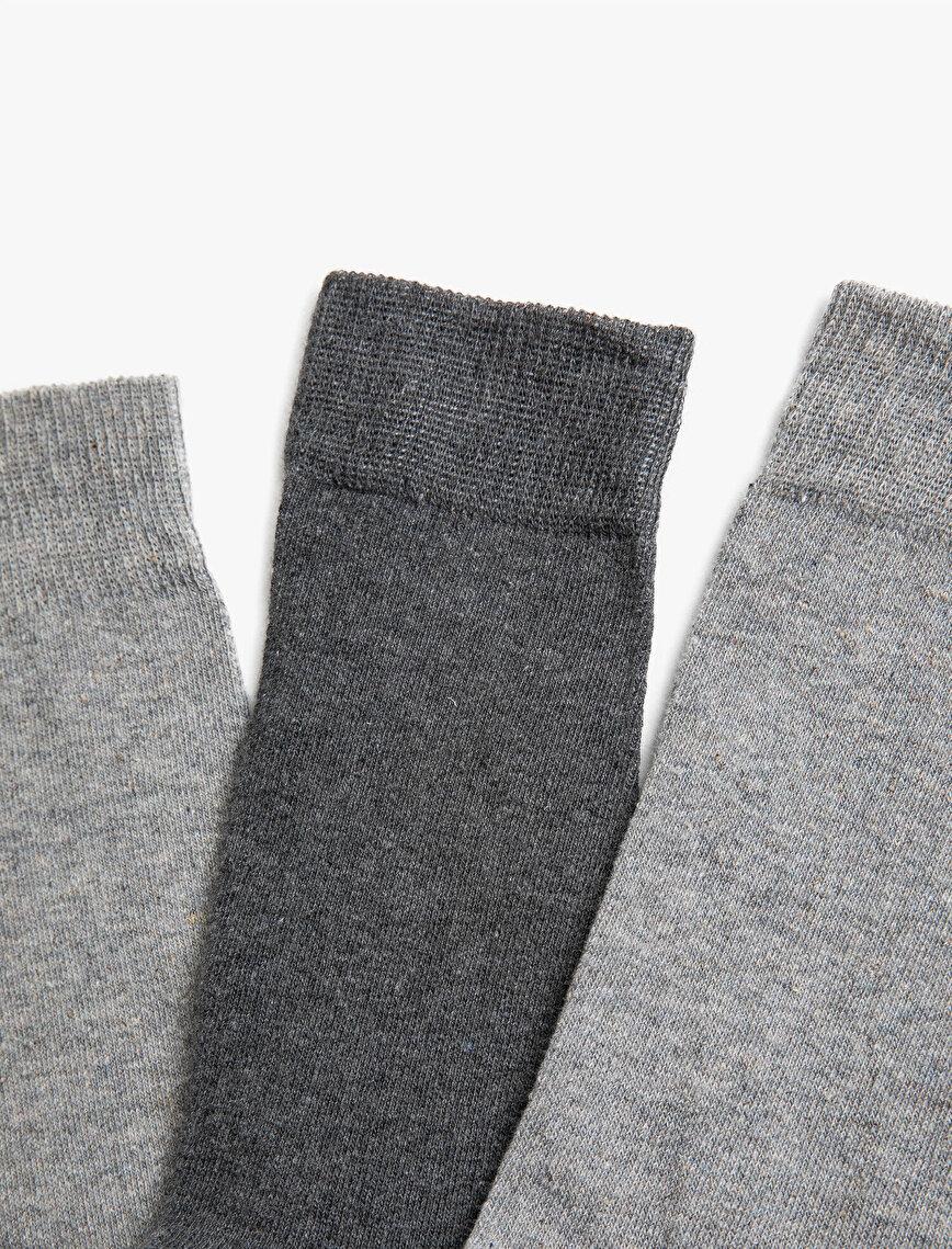 Erkek 3'lü Basic Çorap Seti