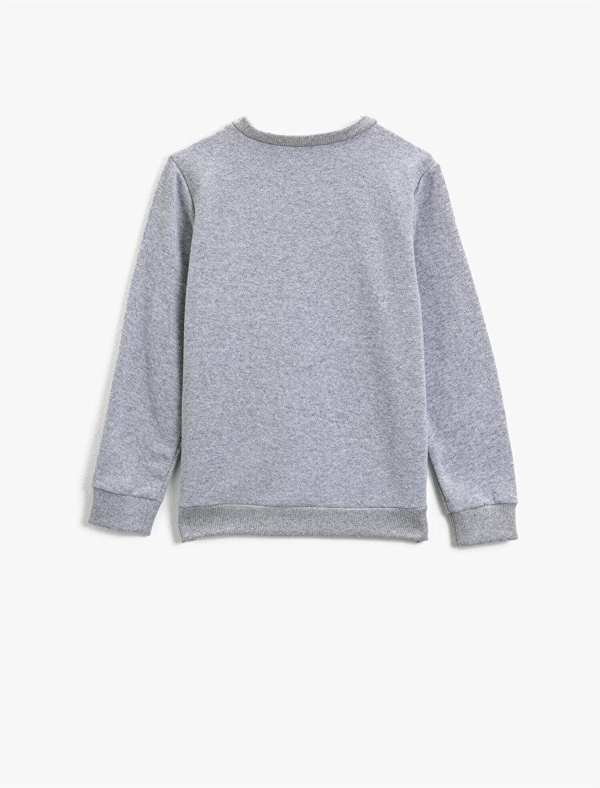 Crew Neck Long Sleeve Printed Sweatshirt