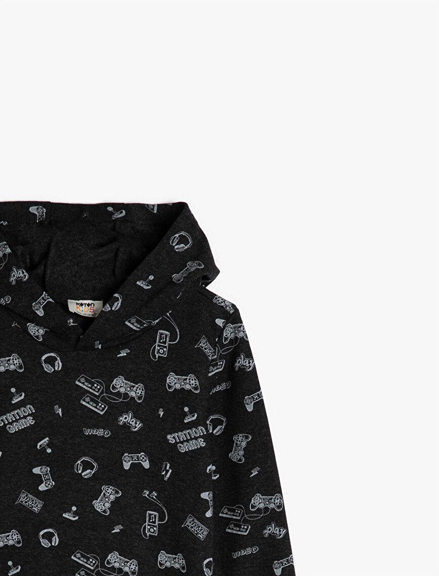 Hooded Printed Sweatshirt