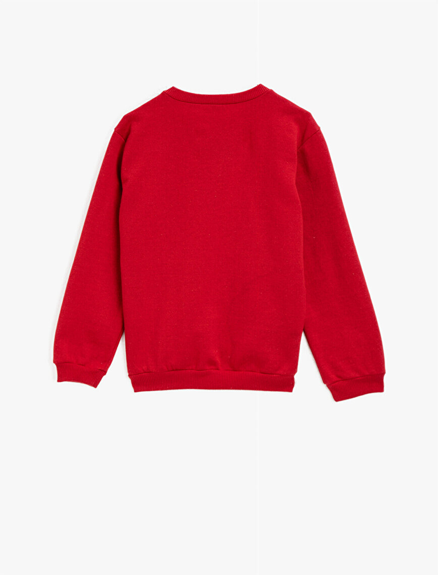Crew Neck Basic Long Sleeve Sweatshirt