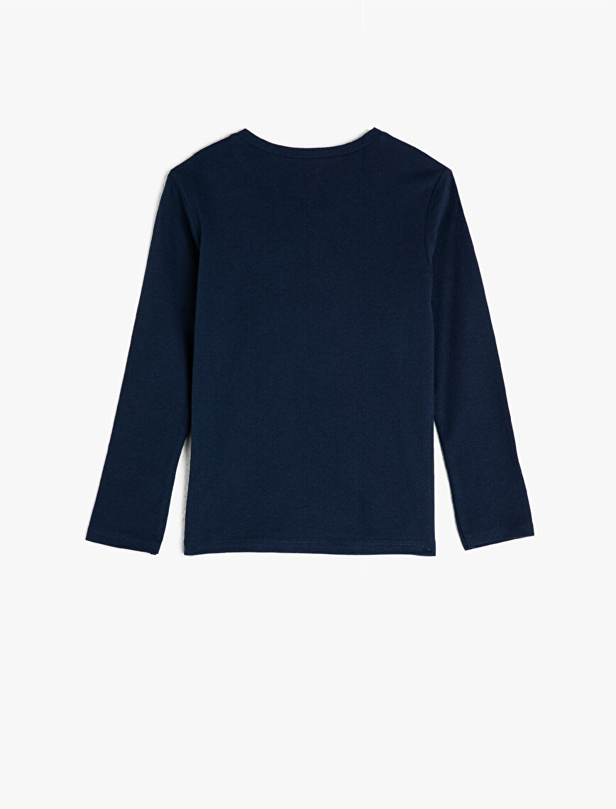 100% Cotton Long Sleeve Crew Neck T-Shirt
