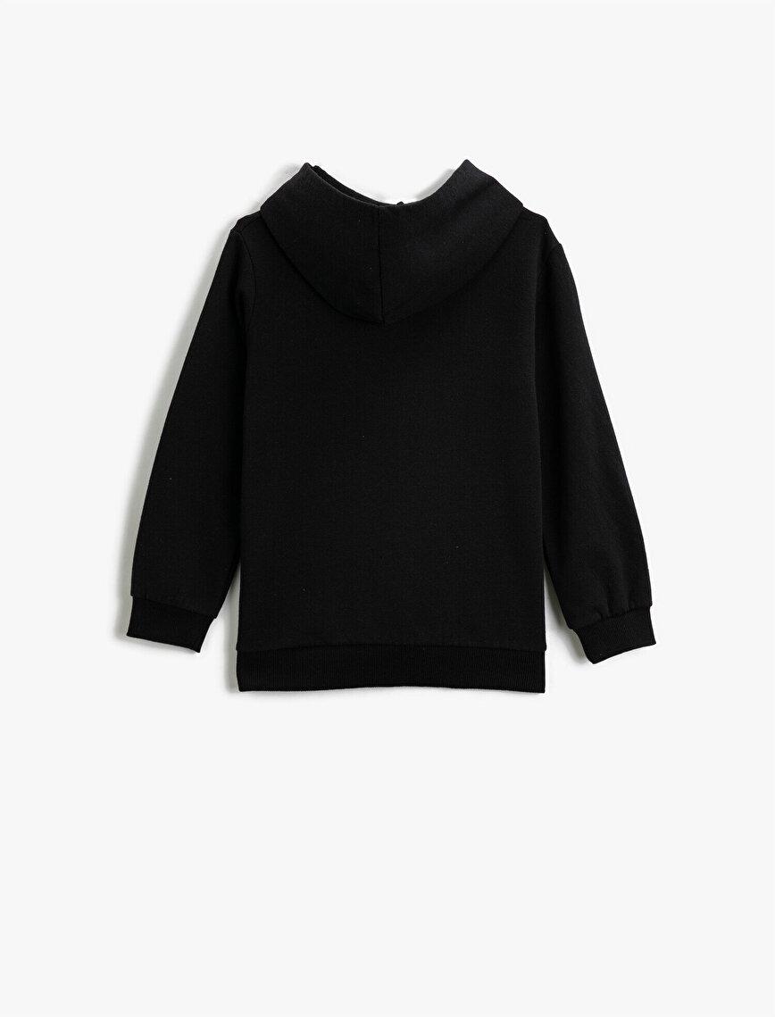 Respect Life | Yaşama Saygı - Kapüşonlu Fermuarlı Basic Sweatshirt
