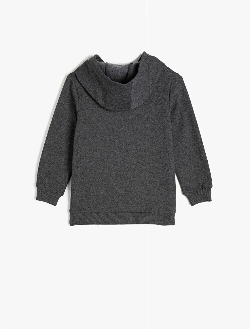 Hooded Long Sleeve Embellished Sweatshirt