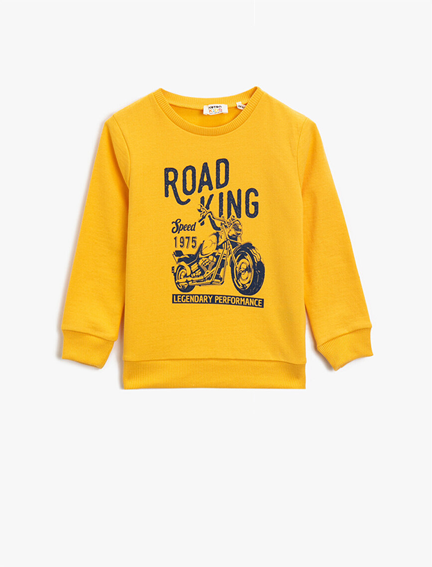Crew Neck Printed Sweatshirt