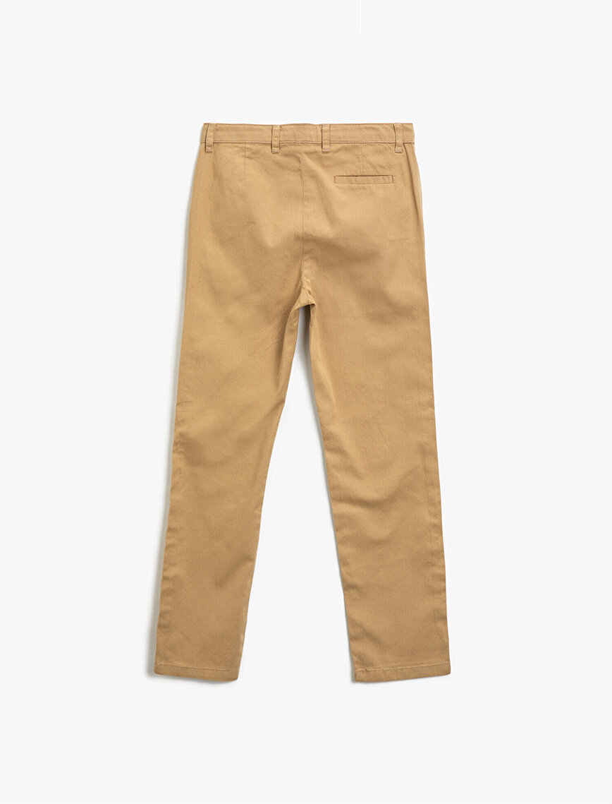 Cotton Basic Pocket Detailed Trousers