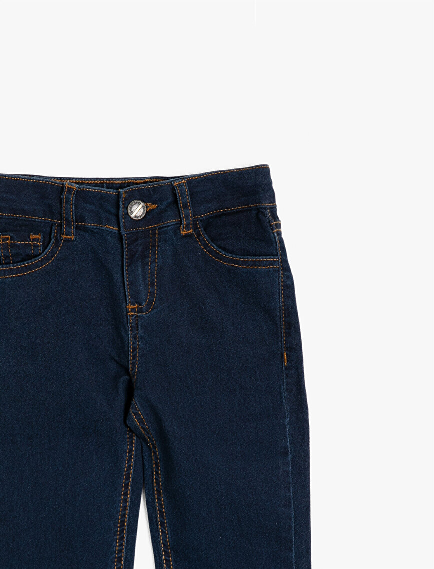 Pocket Detailed Jean Trousers