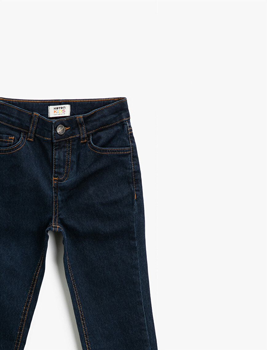 Slim Fit Comfort Strech Pamuklu Cepli Jean Pantolon